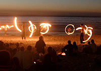 Firedancing at Second Beach - Monday nights